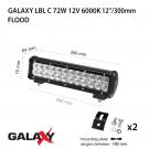 LED bar  Galaxy LBL C 72W